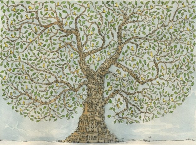 House Tree Lower by Mattias Adolfsson