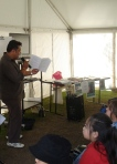 "Nooroa Te Hira doing a reading from ""All in the Woods"""